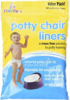 Value Pack TidyTots Disposable Potty Chair Liners Universal Potty Chair Fit