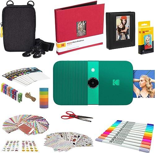2021 KODAK wholesale Smile Instant Print Digital Camera (Green) Complete Scrapbook outlet sale Kit outlet sale