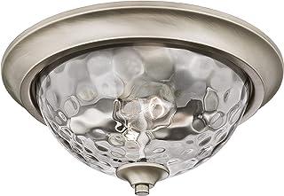 Westinghouse Lighting 63267 basset 33 cm do wewnątrz podtynkowa oprawa sufitowa, wykończenie ciemne cyny z dym szare szkło...