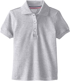 860b56f5d French Toast Girls  Short Sleeve Interlock Polo With Picot Collar