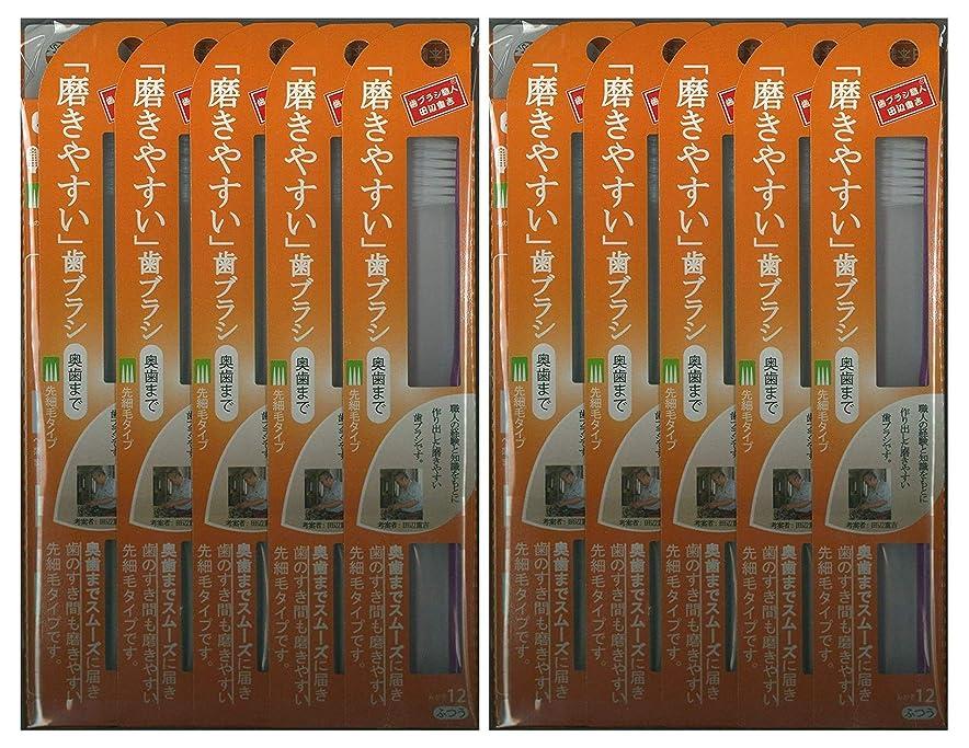 スパイラル委託印象的な歯ブラシ職人 田辺重吉考案 磨きやすい歯ブラシ ふつう (奥歯まで)先細 LT-12 1本入×24本セット