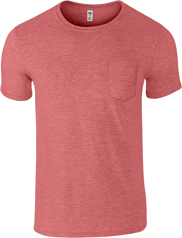 Have It Tall Men's Tall Pocket T Shirt Soft Blend Fabric