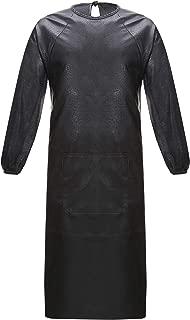 Nanxson(TM Men's PU Leather Waterproof Oil Resistance Working Uniform Overall CF3016