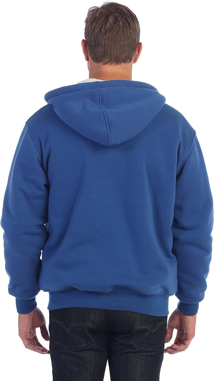 Gioberti Mens Sherpa Lined Pull Zip Fleece Hoodie Jacket