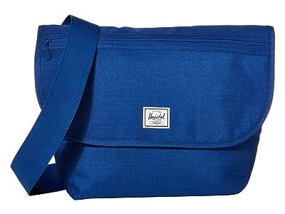 Herschel Supply Co. Grade Mid-Volume (Monaco Blue Crosshatch) Messenger Bags