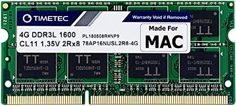Sponsored Ad - Timetec Hynix IC 4GB Compatible for Apple DDR3L 1600MHz PC3L-12800 for MacBook Pro (Early/Late 2011,Mid 201...