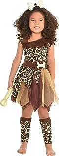amscan Cave Girl Costume, Small (4-6)- 3 pcs, Multicolor, 3-4T