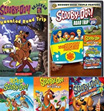 Spooky Trip Scooby-Doo Mystery Case Movie RoadTrip USA Cartoon DVD pack & Aloha Scooby / Goes Hollywood / Stage Fright Solving Gang + Road Book at Creepy Motel 2 Pack