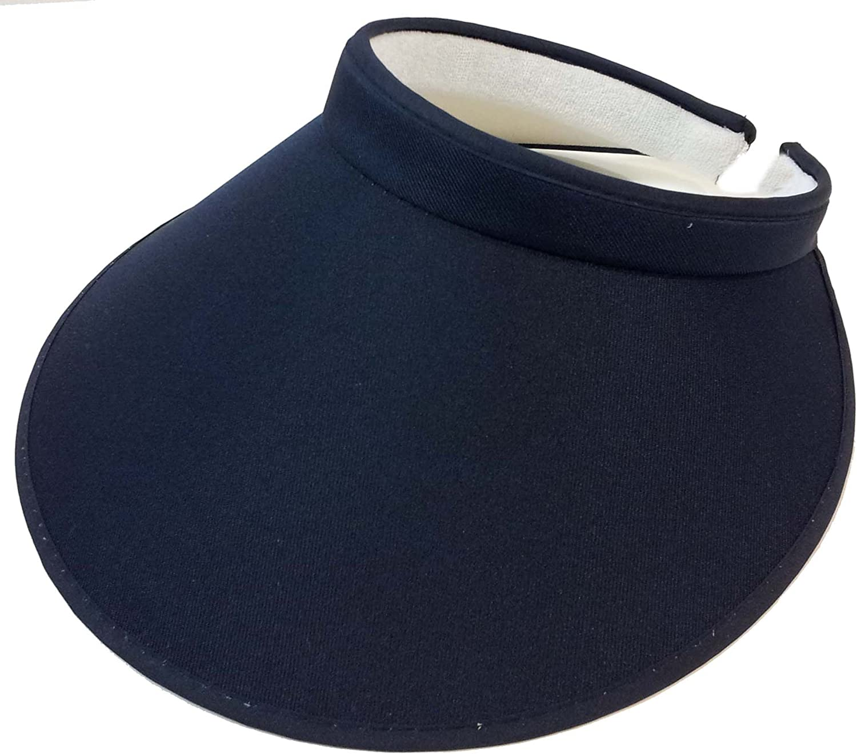 Ladies Women Fashion Large Visor Wide Brim Sun UV Protection Cap Cover Solid Color Hat