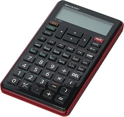 $25 » Sharp EL-738FB 10-Digit Financial Calculator w/Protective Hard Cover, Battery Powered LCD Display, Great for Students and Professionals, Black