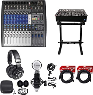 Presonus StudioLive AR12 14-Ch USB Live Sound/Studio Mixer+Headphones+Stand+Mic