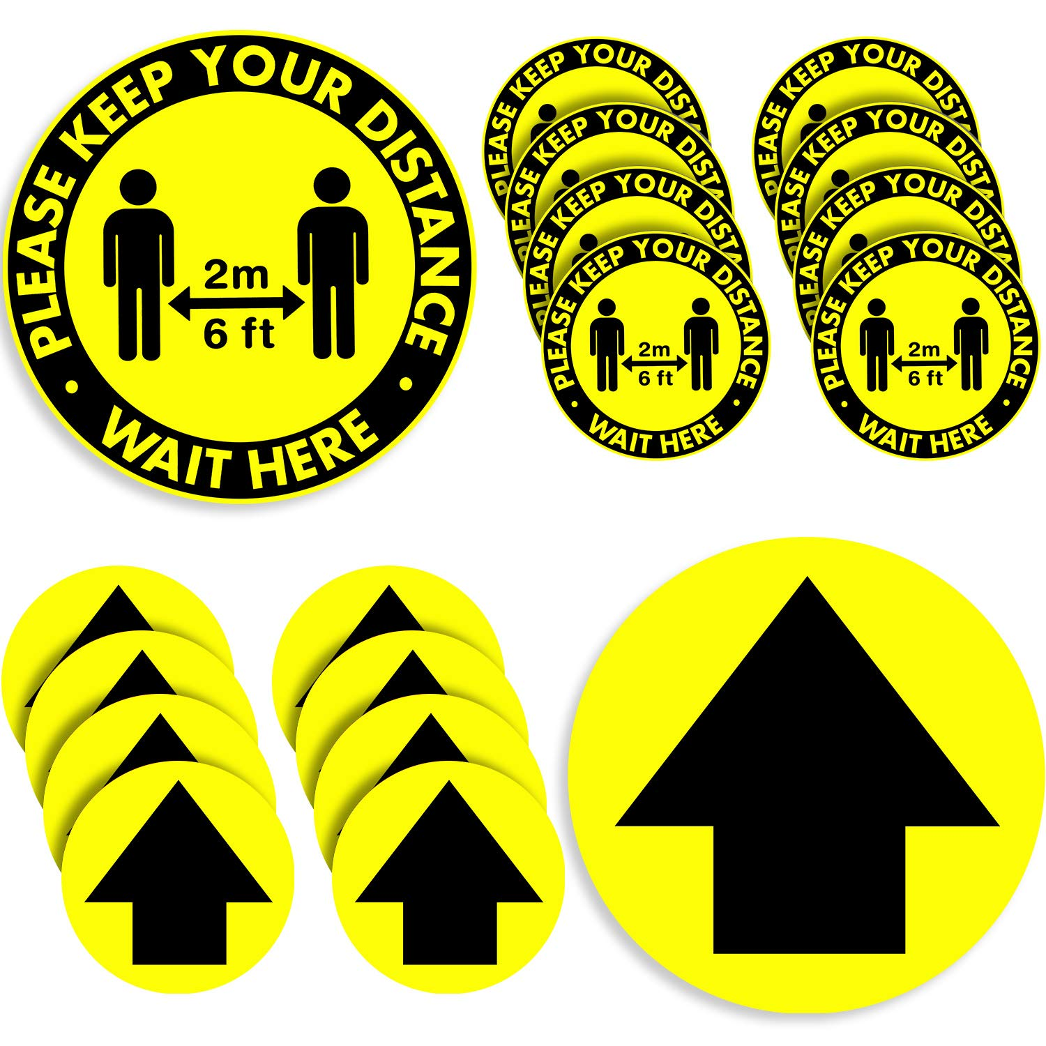 20 Pieces Year-end annual Max 58% OFF account Directional Arrows Social Decal Sticke Distance Floor