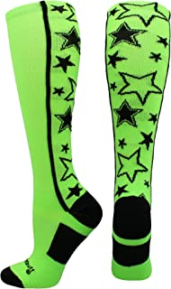 MadSportsStuff Crazy Socks with Stars Over The Calf Socks (Multiple Colors)