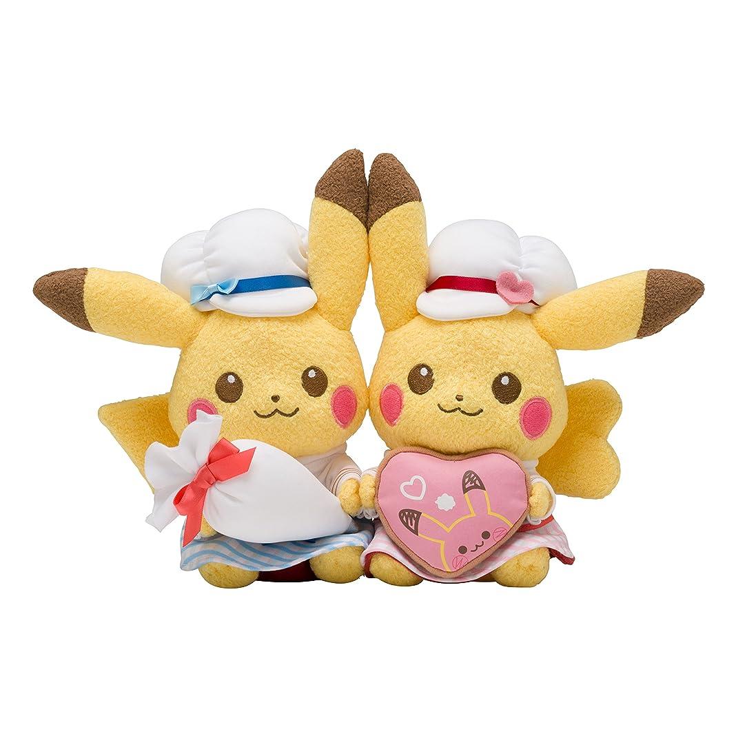 石の十代現れるポケモンセンターオリジナル ぬいぐるみ Pikachu's Sweet Treats ペアピカチュウ