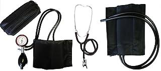Tensiómetro brazo, Juego de 2Manguera tipo XL Extra con extra XL Velcro manguito + Doble Cabeza estetoscopio Negro stetoskop estetoscopio 1Juego