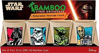 Vandor Star Wars 4-Piece 10-Ounce Bamboo Cup Set (99103)