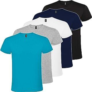 Pack 5 | Camiseta Básica Hombre | Algodón | Manga Corta