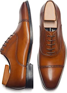 Men's Oxford Formal Comfortable Dress Shoes Genuine Leathers