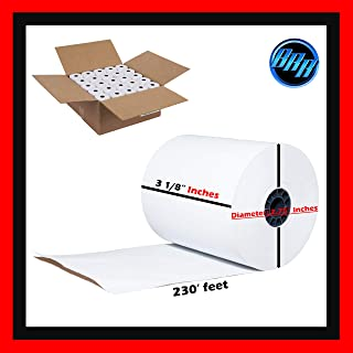 3 1/8 x 230 thermal paper roll 50 pack (BETTER QUALITY MORE PAPER THAN COMPETITORS) 2.75