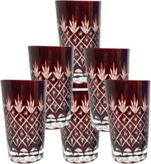 Best ruby red bohemian glass Reviews