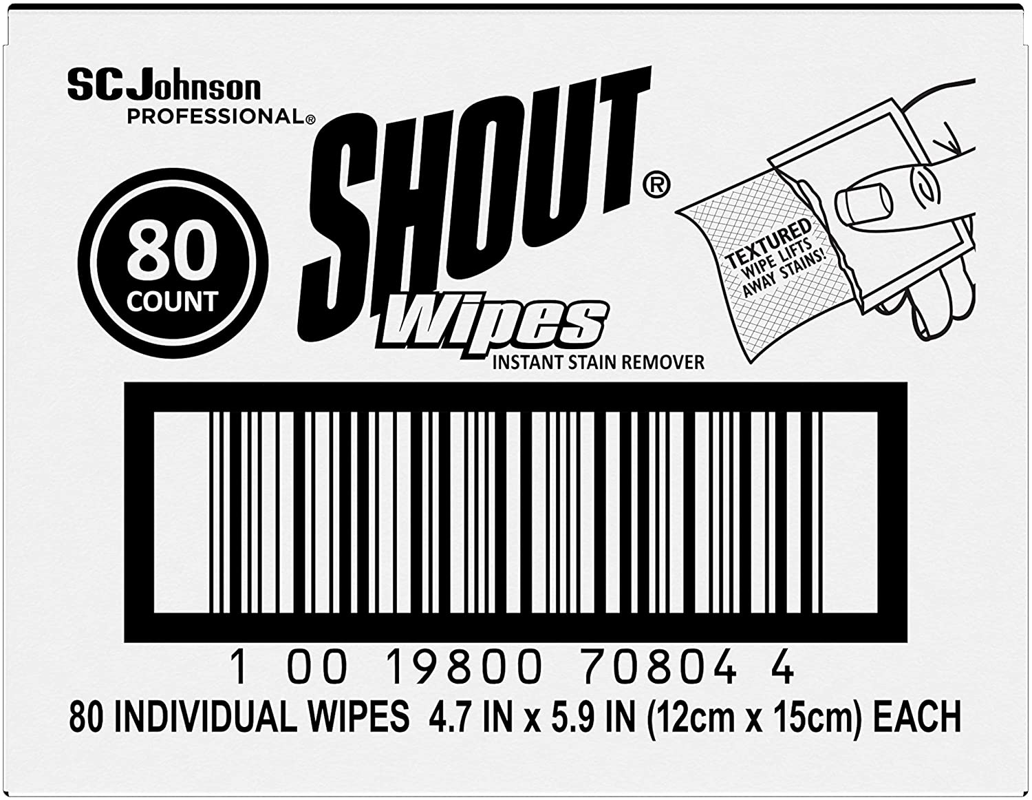 SC Johnson PROFESSIONALShout Brand Stain F Wipe Removing Great Cheap Limited price sale Sale Venue