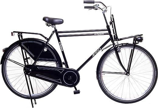 Amigo Eclypse – Cityräder für Herren – Herrenfahrrad 28 Zoll – Geeignet ab 185-195 cm – Citybike mit Handbremse, Rücktritt, Gepäckträger Vorne,…