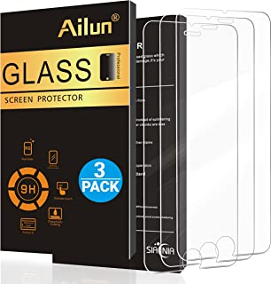 Ailun Screen Protector Compatible iPhone 8 7 6 6s [3 Pack],2.5D Edge Tempered Glass for iPhone 8,iPhone 7,iPhone 6/6s,Scratch-Proof,Case Friendly,Siania Retail Package