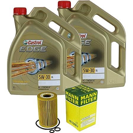 Filter Set Inspektionspaket 10 Liter Motoröl Castrol Edge Titanium Fst 5w 30 Ll Mann Filter Ölfilter Auto