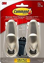 Command Forever Classic Metal Hook, Large, Brushed Nickel, 2-Hooks (FC13-BN-2ES)