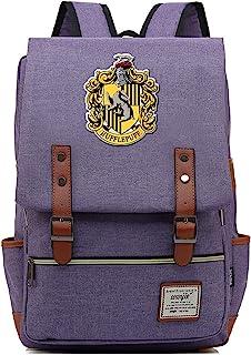 Mochila de Harry Potter para niños Bolsa de Libros Ligera Bolsa de Almuerzo para niños Hufflepuff Purple