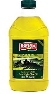 Iberia Extra Virgin Olive Oil & Sunflower Oil Blend, High Heat Frying, All Purpose Cooking Oil, Baking & Deep Frying Oil f...