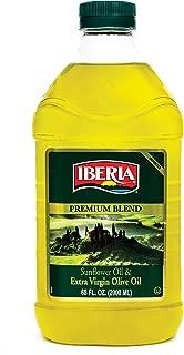 Iberia Extra Virgin Olive Oil & Sunflower Oil Blend (2 Liter) High Heat Frying, All Purpose Cooking Oil, Baking & Deep Frying Oil from Spain, Kosher