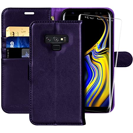 Galaxy Note 9 Wallet Case, 6.4 inch,MONASAY [Included Screen Protector] Flip Folio Leather Cell Phone Cover with Credit Card Holder for Samsung Galaxy Note 9