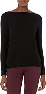 Three Dots Women's Qq2790 Brushed Sweater Open Boatneck Top