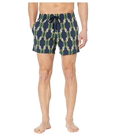 Vilebrequin Moorise Sweet Fish Superflex Swim Trunks (Blue Marine) Men