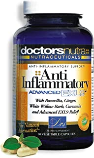 Natural Anti-Inflammatory Relief by Doctors Nutra - Relieves Inflammation-Induced Pain, Day or Night, Naturally Derived, Safe and Effective with Turmeric and Curcumin - Gluten-Free, 60 Vegetarian Caps
