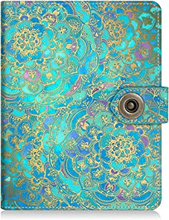 Fintie Passport Holder Cover Case, Premium Vegan Leather RFID Blocking Travel Wallet with Snap Closure, Shades of Blue