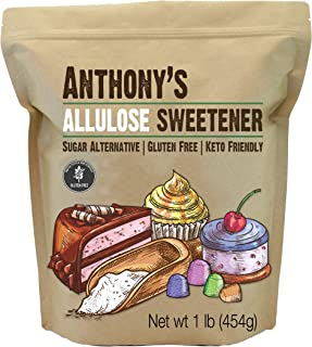 Anthony's Allulose Sweetener, 1 lb, Batch Tested Gluten Free, Keto Friendly Sugar Alternative, Zero Net Carb, Low Calorie