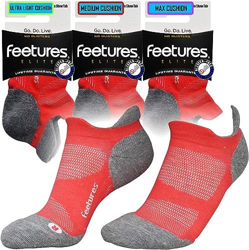 Feetures Elite NST Chaussettes de course à pied sans irritation pour sports de gym sans exposition Corail