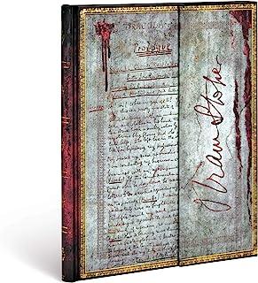 Paperblanks Diari a Copertina Rigida Bram Stoker, Dracula | Bianco | Ultra (180 × 230 mm)