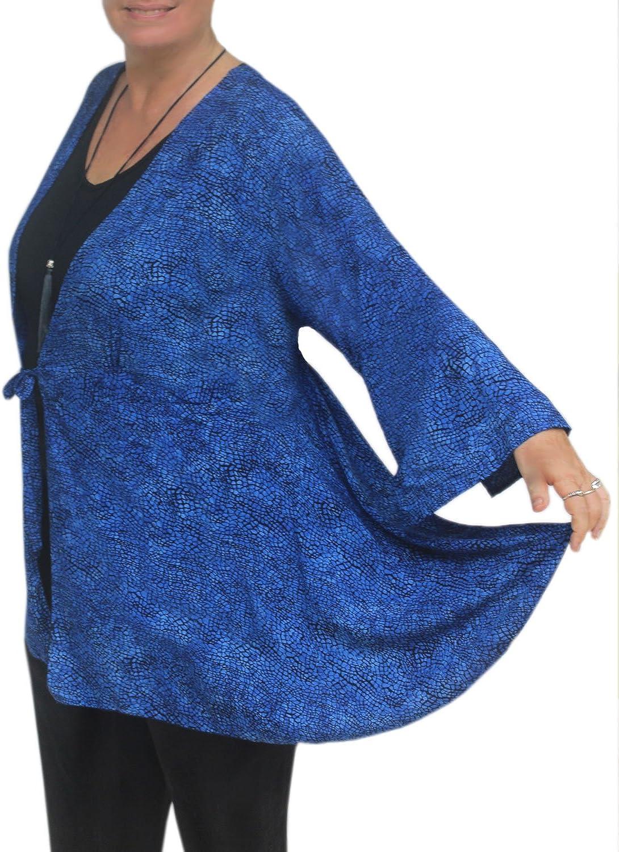 Fashion Fulfillment Plus Size Women's Kimono Style Tunic Cardigan, One Plus Size 1x3x, Handmade