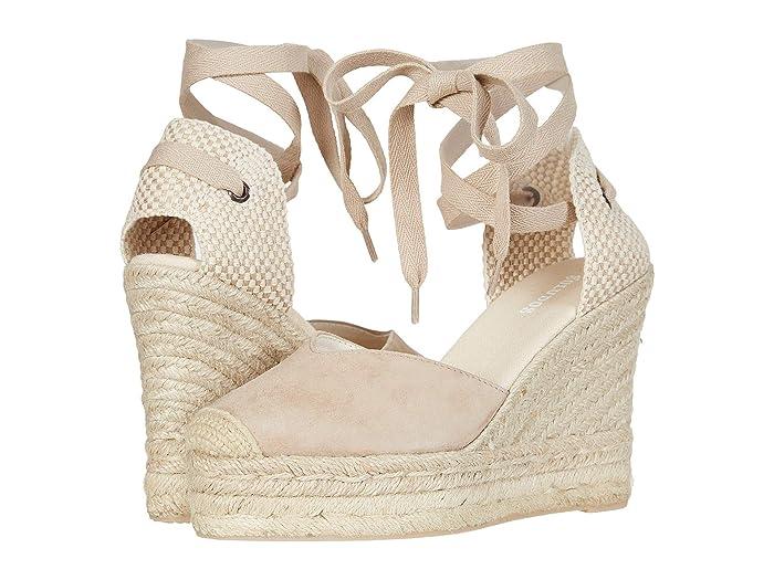 70s Shoes, Platforms, Boots, Heels Soludos Mallorca Wedge Espadrille Blush Womens Shoes $110.99 AT vintagedancer.com