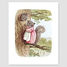 "Beatrix Potter Print (Peter Rabbit Wall Decor, Baby Nursery Art) ""Woodland"" – Unframed"