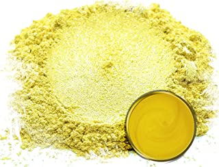 "Mica Powder Pigment ""Koi Yellow"" (50g) Multipurpose DIY Arts and Crafts Additive | Natural Bath Bombs, Resin, Paint, Epoxy, Soap, Nail Polish, Lip Balm"