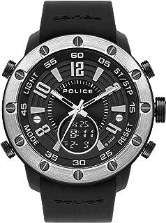Police Watches batur Mens Analog/Digital Quartz Watch with Silicone Bracelet PL.16015JPBS-02P