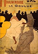 Spiffing Prints Henri Toulouse Lautrec - Moulin Rouge-La Goulue - Medium - Archival Matte - Black Frame
