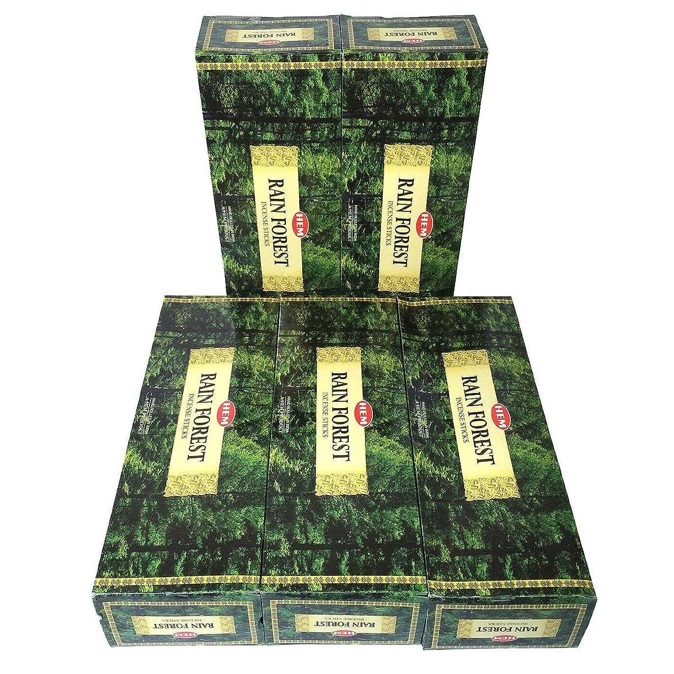 凍結ステートメントゴミHEM レインフォレスト香 スティック 5BOX(30箱)/HEM RAIN FOREST/ インド香 / 送料無料 [並行輸入品]