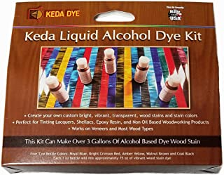 Vibrant Wood Dye Liquid Offered in 5 Color Liquid Dye Kit - Solvent Alcohol Dye