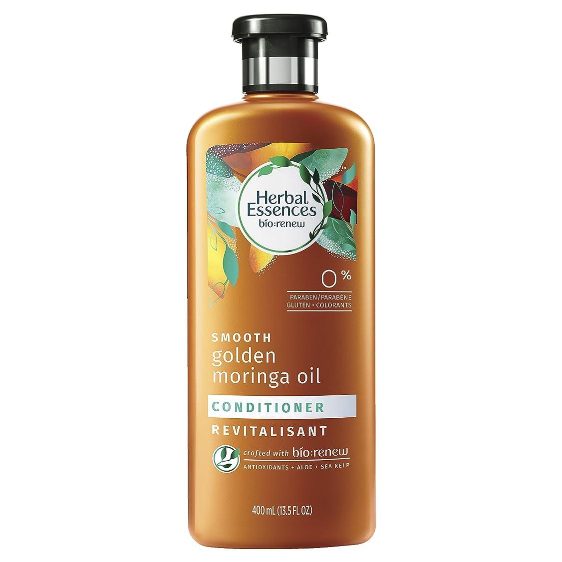 インスタンス補助直立Herbal Essences ゴールデンモリンガオイルコンディショナー、13.5液量オンス(2パック)をスムーズBiorenew