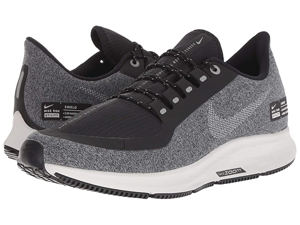 Nike Air Zoom Pegasus 35 Shield (Black/Metallic Silver/Cool Grey) Women